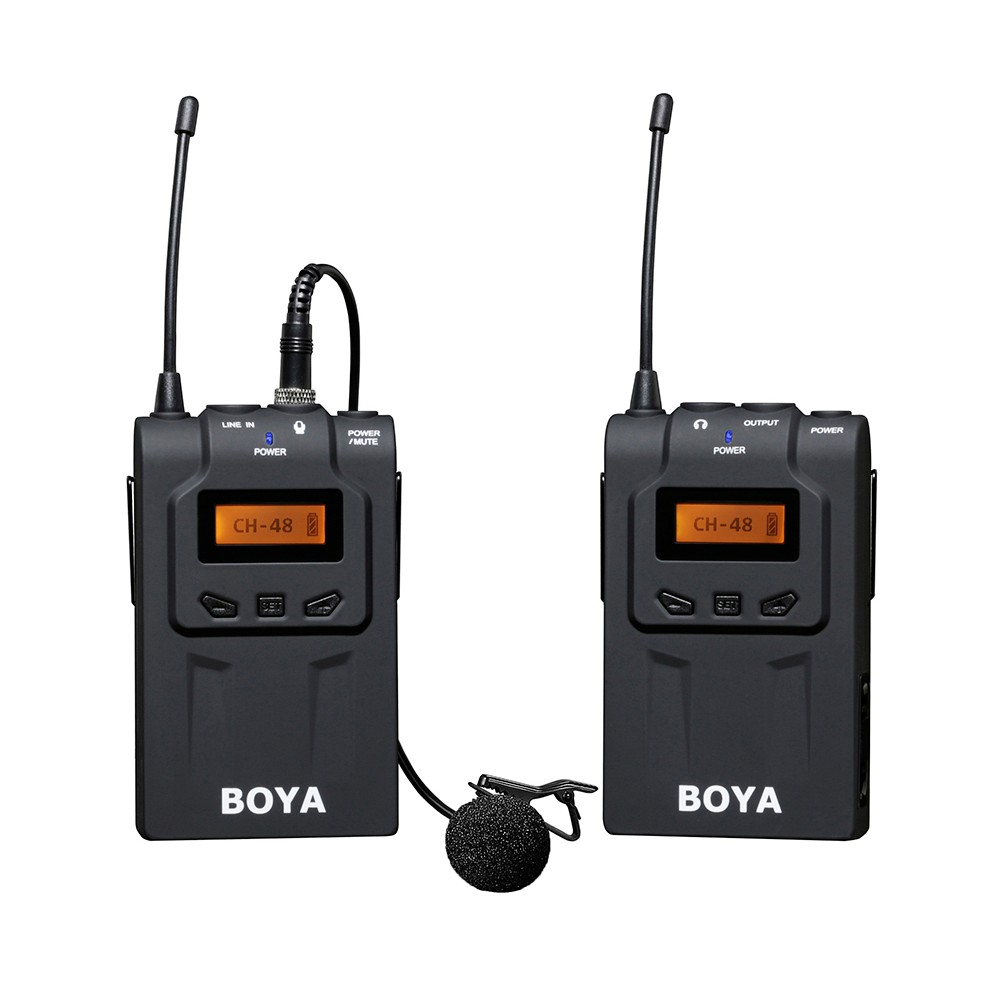 boya by wm6 uhf wireless microphone system omni directional lavalier microphone for eng efp dv. Black Bedroom Furniture Sets. Home Design Ideas