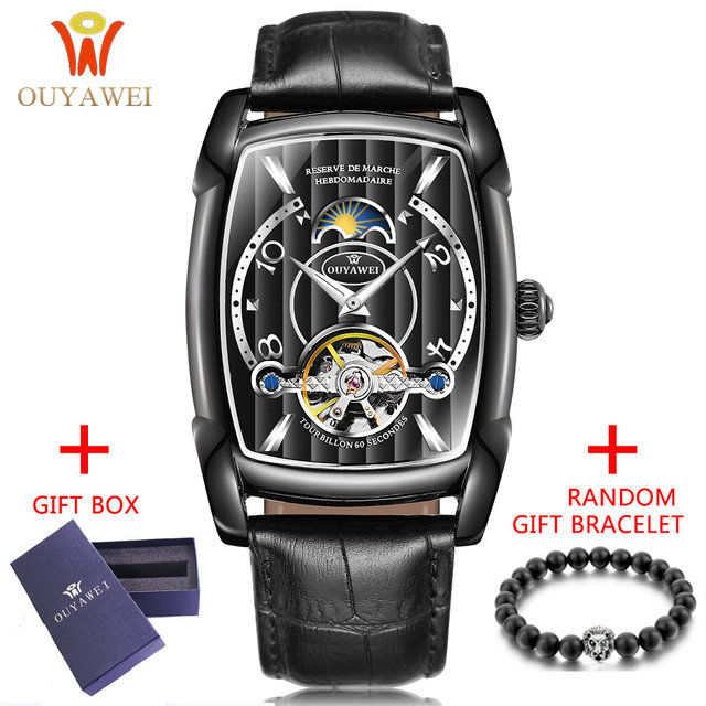 Automatic Skeleton Mechanical Tourbillon Wrist Watch 1