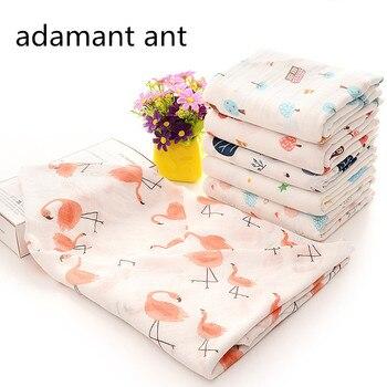 Adamant ant 100% Bambusfaser Baby Swaddles Weiche Neugeborene Decken Schwarz Weiß Gaze säugling wrap schlaf sack swaddled manta