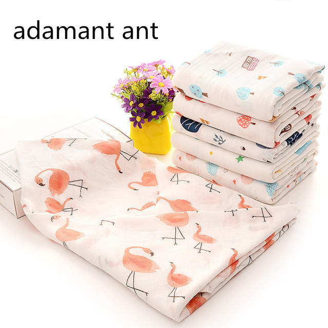 adamant ant 100% Bamboo Fiber Baby Swaddles Soft Newborn Blankets Black White Gauze infant wrap sleep sack swaddled manta