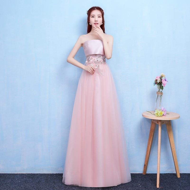 Pink Colour New Bridesmaid Dress Wedding Long Dress Party Dress Dinner Dress Elegant Dress Women For Wedding Party Sexy Dress