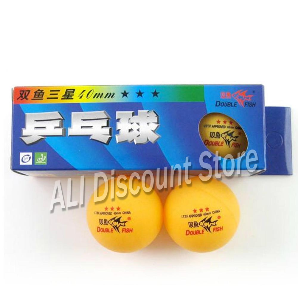 Double Fish 3-star (3star, 3 Srar) 40mm Orange Table Tennis Balls For Ping Pong Game Training