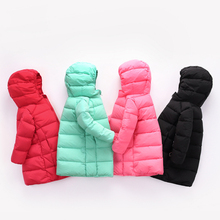 2017New Girls And Boys X-Long Down Jacket Kids Hooded Coat Filling White Duck Down Winter Outwear Jacket For Children Down&Parka