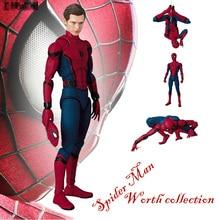 купить Justice League Spider-Man Homecoming MAF047 The Spiderman Tom Holland PVC Action Figure Collection Toy 15cm Retial Box по цене 1490.2 рублей