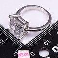 Branco Festa de Casamento Design de Moda Simulado Sapphire 925 Sterling Silver Romântico Tamanho do anel 5 6 7 8 9 10 11 12 PR41
