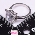 White Simulated Sapphire 925 Sterling Silver Wedding Party Fashion Design Romantic Ring  Size 5 6 7 8 9 10 11 12 PR41