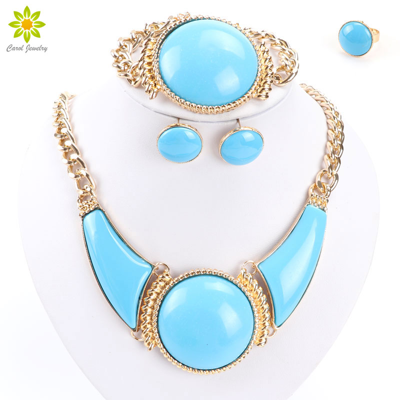 Big Exaggeration Necklace Set Gold Choker Necklace For Women