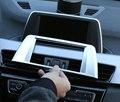 Ajuste Para BMW X1 F48 2016 2017 ABS Chrome Centro de Navegação Central Tampa Moldura Do Painel Guarnição Acessórios Do Carro