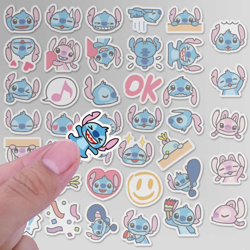 40 ชิ้น/แพ็ค Kawaii Lilo Stitch Star เด็กตกแต่งสติกเกอร์กาวสติกเกอร์ DIY ตกแต่งไดอารี่เครื่องเขียนสติกเกอร์