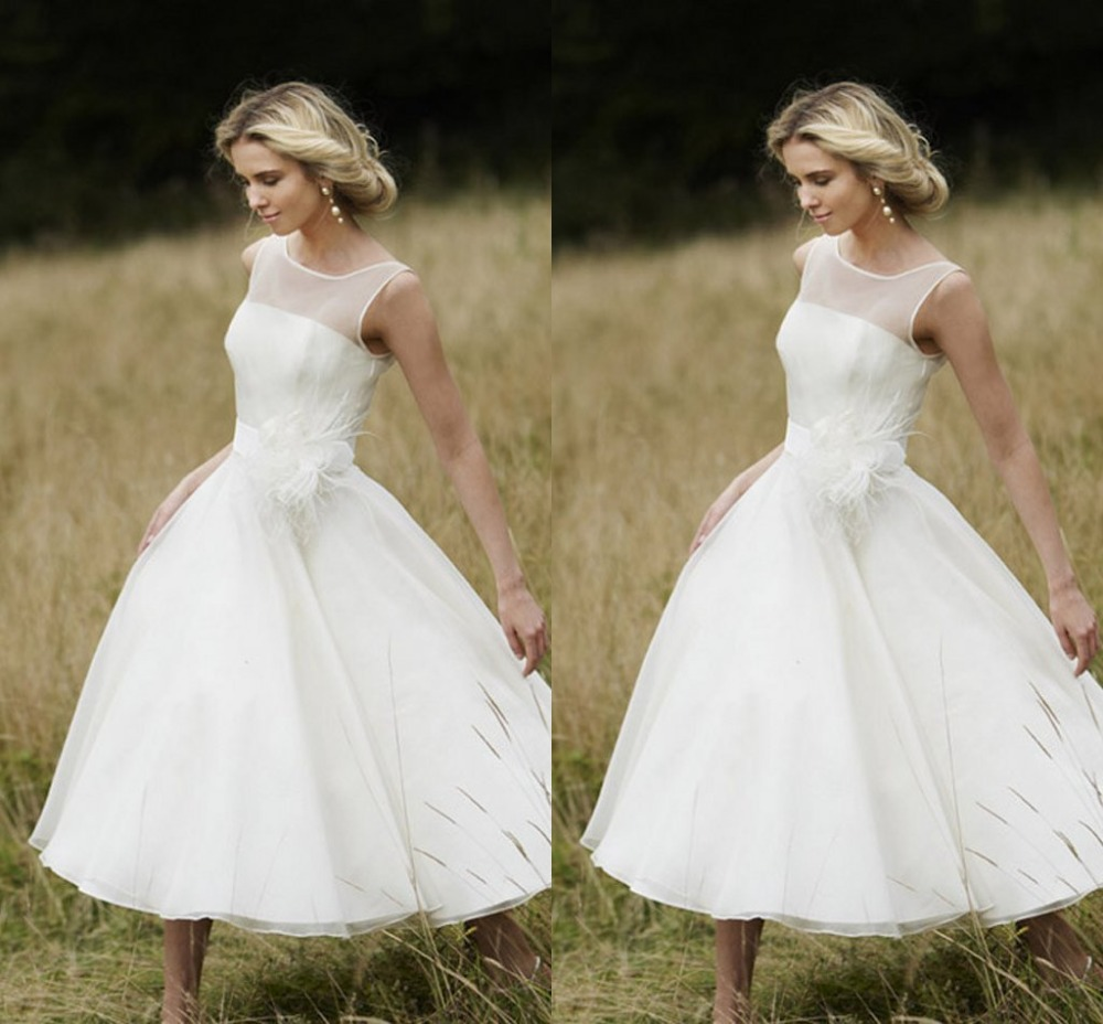 Compare Prices on Tea Length Vintage Wedding Dress- Online ...