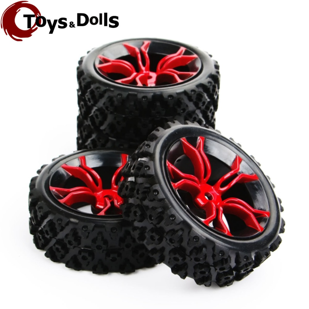 4pcs/set PP0487+MPNKR 1/10 RC Rally Racing Off Road Car Block Tyre &Wheel Set For Rc Model Car Kids Toys Collections Gifts E promax driven wheel block for gy6 150cc scooters atvs go karts moped quads 4 wheeler dune buggys