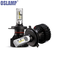 Oslamp H4 Hi lo Beam H7 H11 Single Beam Car LED Headlight Bulbs ZES Chips 60W 8000LM 6500K Auto Led Headlamp Fog Light DC12v 24v