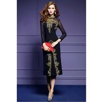 Zmvkgsoa Women Embroidery Dress Female Clothing Elegant Mesh Vintage Retro Dresses Vestidos Plus Size XXXL Women