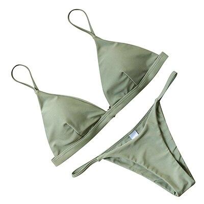 OMKAGI Sexy Bikini 2019 Swimsuit Swimwear Women Biquini Push Up Bikini Set Swimming Bathing Suit Beachwear Maillot De Bain Femme