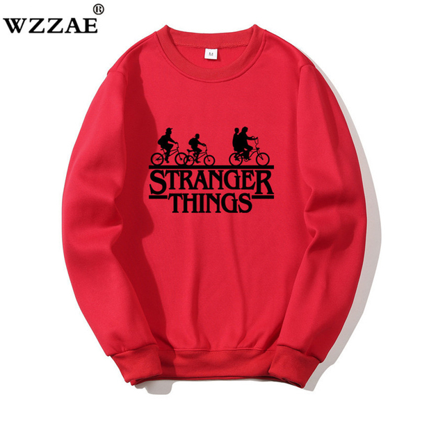 2019 New Stranger Things Printed Men's Hoodie Fashion Winter Autumn Men Women Cotton Hoodies Sweatshirts Tops Pullover Hooded