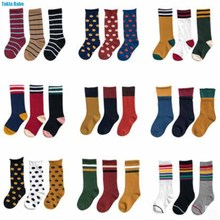 Tukla Babe New 1-12 Y Child Socks Autumn Winter Color Matching Striped Children'