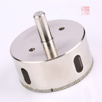 Electric Hand Tool Accessories 65mm Diamond Coated Core Drill Bit Hole Saw Cutting Tool For Glass
