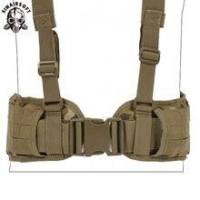 Тактический Жилет Molle ремень мужской армейский специальный 1000D нейлон военный удобный боевой пояс EAS h-образный Регулируемый мягкий