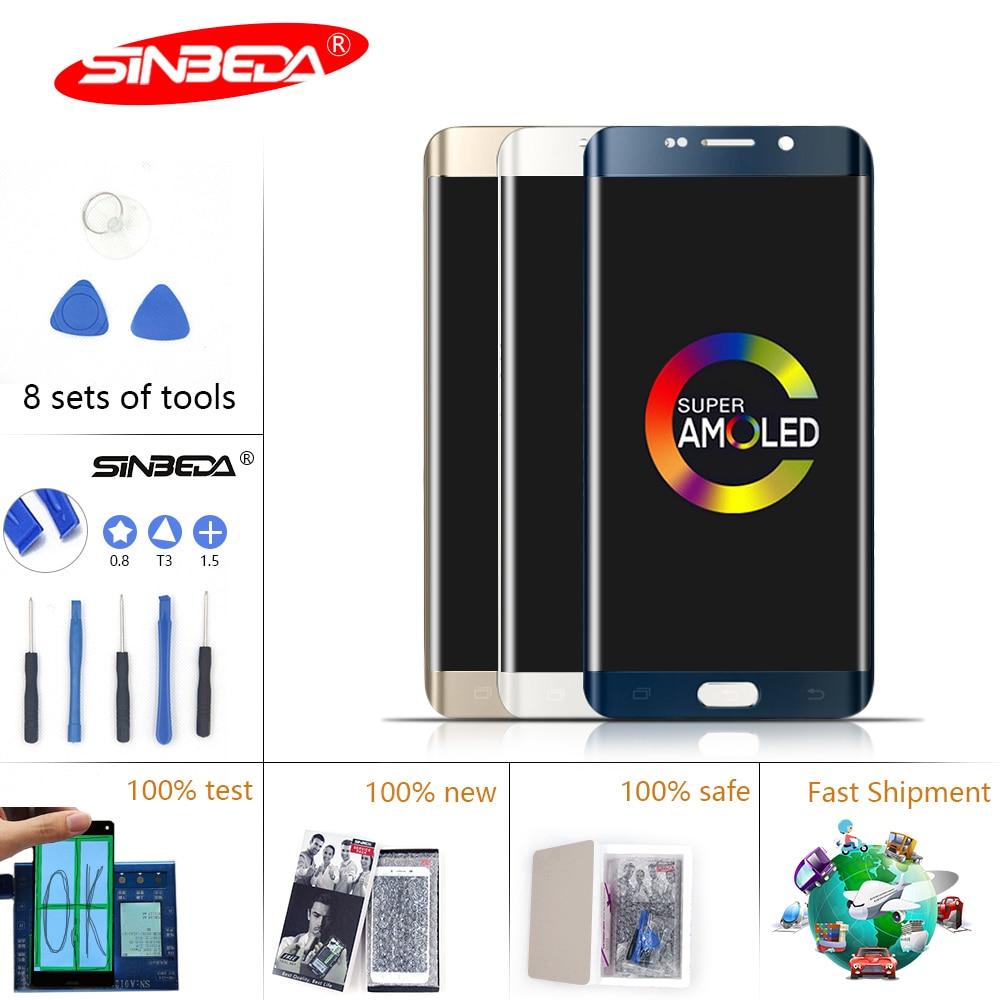Burn Shadow 5.7Sinbeda for SAMSUNG Galaxy S6 Edge Plus LCD DisplayTouch Screen Digitizer Frame G928f G928