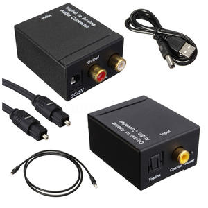 hot-Digital Optical Coaxial Toslink Signal to Analog Audio Converter Adapter RCA SV