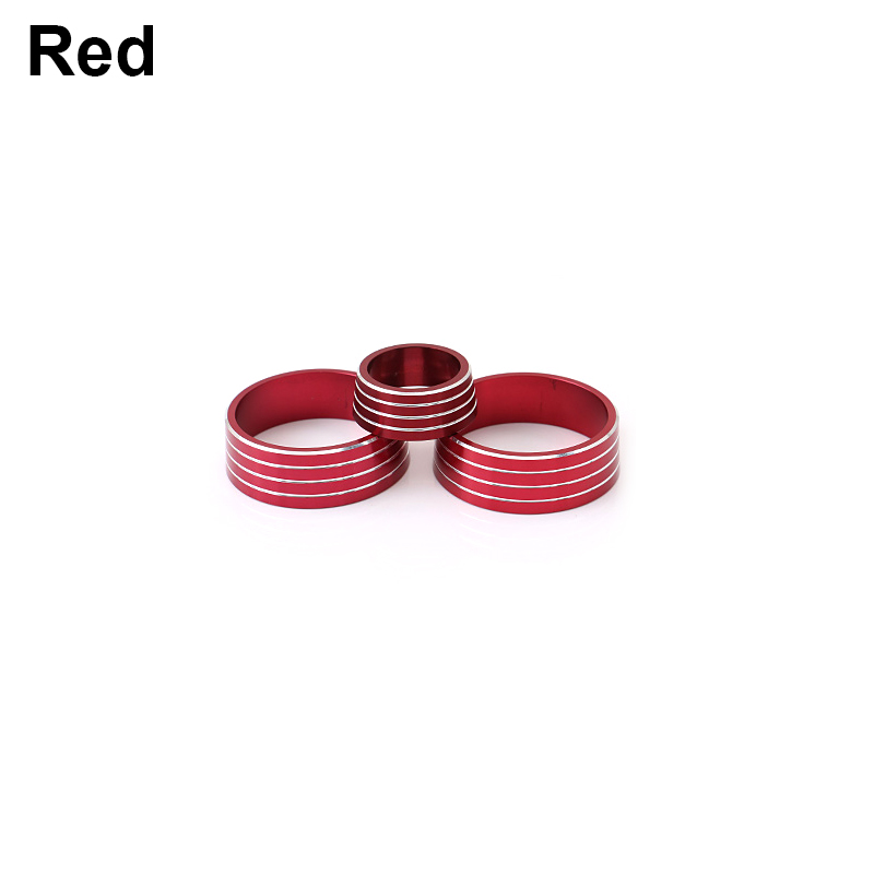 3PCS Red Interior AC Climate Control Knob Ring Cover For Buick Regal 2017 2018