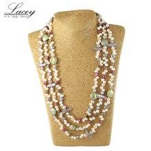 Perła biżuteria, długa prawdziwa naturalna perła słodkowodna naszyjnik ślub kobiety, matka perła naszyjnik 190cm 200cm dziewczyna gify