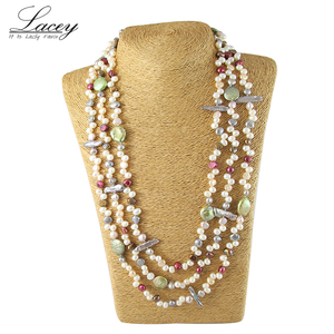 Image 1 - Perła biżuteria, długa prawdziwa naturalna perła słodkowodna naszyjnik ślub kobiety, matka perła naszyjnik 190cm 200cm dziewczyna gify