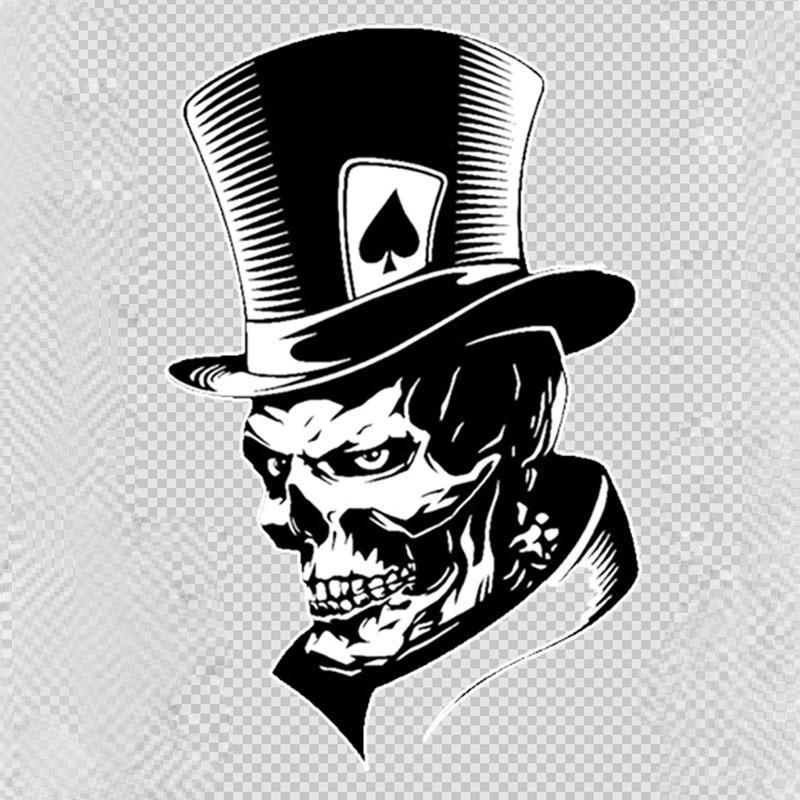 Clown Evil Jester Joker Fool Car Truck Window Laptop Vinyl Decal Sticker