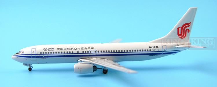 PandaModel China International Airlines Inner Mongolia company B-2670 1:400 B737-800 commercial jetliners plane model hobby phoenix 10980 b737 700 w 1 400 china international aviation inner mongolia tianjiao commercial jetliners plane model hobby