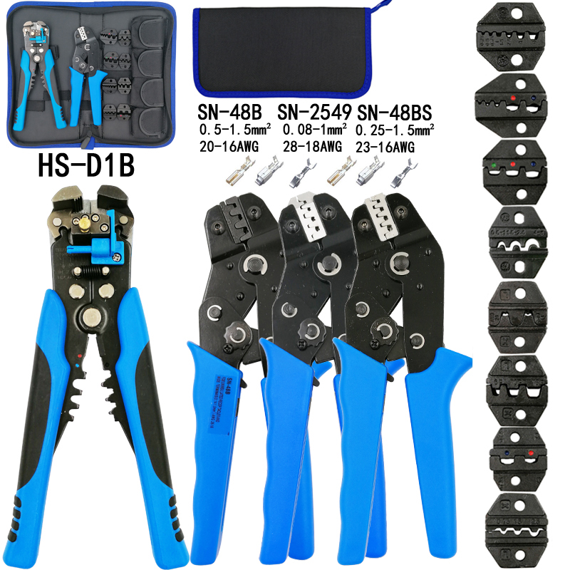 SN-48BS SN-2549 crimping plier kit combination 8 jaw for tube/plug spring/insulation/non-insulation most type terminals tools sonex sn 012 t page 8