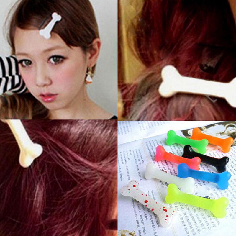 1Pair Fashion Lovely Women Gril Colorful Vivid Dog Bone Hair Clips Side Hairpin Hairwear Headwear Barrettes Hair Band Accessorie