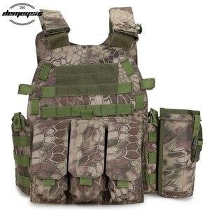 Image 2 - Multicam Camouflage Molle 나일론 모듈러 조끼 전술 전투 조끼 야외 사냥 6094 조끼 군사 남성 의류 육군 조끼