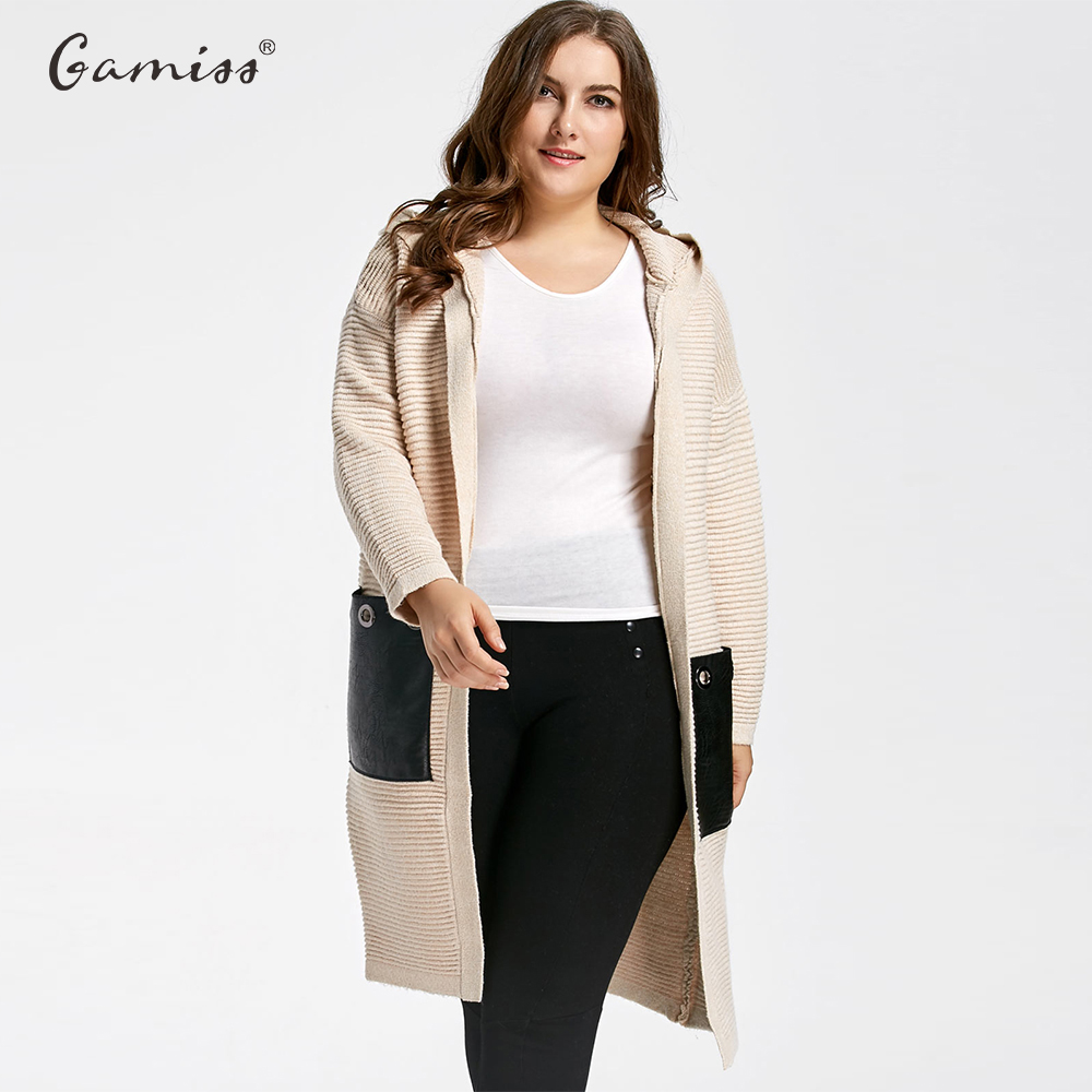 Aliexpress.com : Buy Gamiss Plus Size Chunky Pocket Long Hooded ...