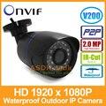 1920x1080 P 2.0MP 24LED ИК Водонепроницаемый Пуля Ip-камера Наружного Камеры ВИДЕОНАБЛЮДЕНИЯ ONVIF Ночного Видения P2P IP Камеры Безопасности с Ик-