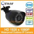 1920x1080 P 2.0MP 24LED IR Impermeável Bala Câmera IP Ao Ar Livre CCTV Câmera Night Vision ONVIF P2P IP Câmera De Segurança com IR-Cut