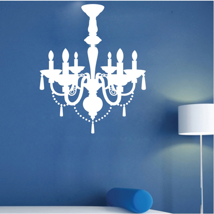 9025 Pendant Lamp Wall Sticker Gorgeous Light Vinyl Stickers Chandelier Wall Decal Wallpaper Poster DIY Home Decor