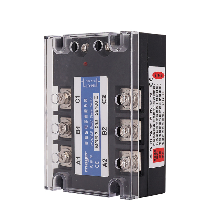 100A Three Phase Solid State Relay SSR DC control AC (MGR-3 032 38100 Z)Free shipping With protective covers100A Three Phase Solid State Relay SSR DC control AC (MGR-3 032 38100 Z)Free shipping With protective covers