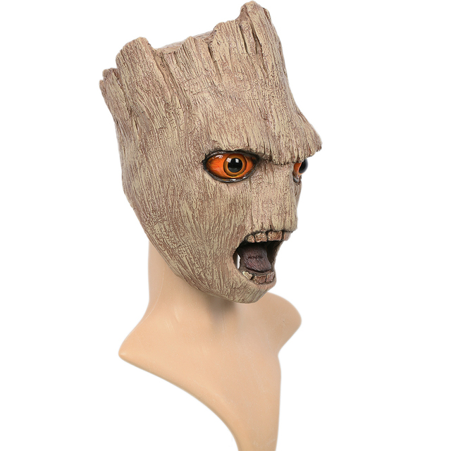 Coslive Guardians of the Galaxy Vol. 2 Groot Mask Full Head of Latex Light brown Mask for Halloween Cosplay One size fits most 1