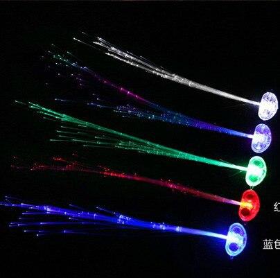 Vacances soirée décoration de mariage cadeau LED Flash accessoires des  cheveaux tresses épingle Joke pour soirée soirée Flash coloré dans  Bruiteurs de