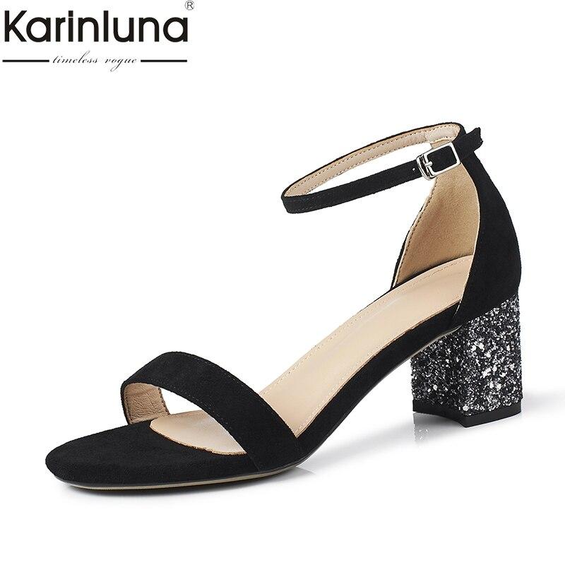Oficina Señora Nuevo Karinluna 43 Clásico Chic 2019 Talla Sandalias Grande Estilo Elegante rCedxBo