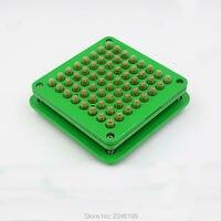 1Set/Lot 64Holes Empty Capsule Filling Machine, Green Size 0# Empty Capsules Filling Mold, DIY 64Holes Medical Capsule Filler