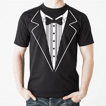 903ce81df Tuxedo T Shirt TUX Funny Prom Wedding Groom Costume Outfit T shirt Tuxedo  With Bowtie Graohic