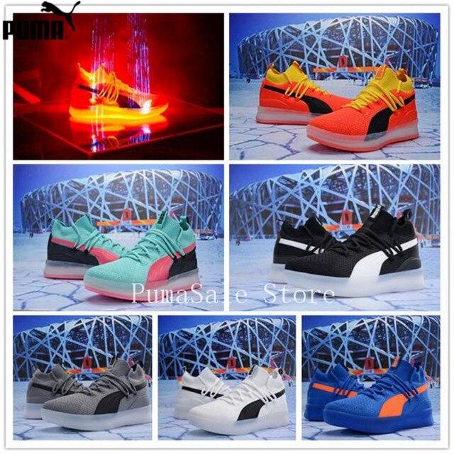2ce4c9eae15 2019 PUMA CLYDE COURT DISRUPT 191895-01 Men s Sneakers Sock Shoes Retro  Sport Badminton Shoes Basketball Men Sneaker Size 40-46