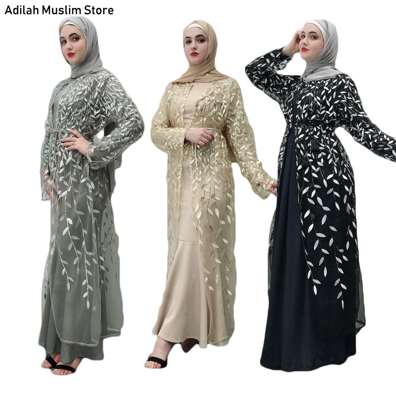Women Ramadan Abaya Dubai Turkish Kaftan Dress Muslim Women's Abaya