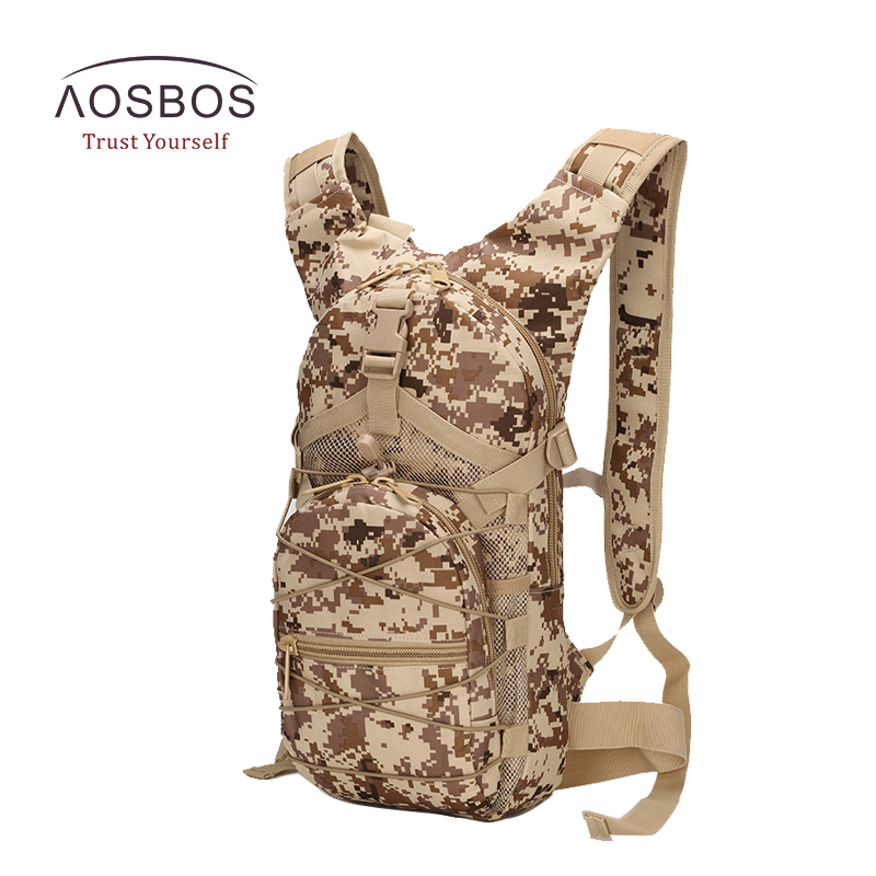 Aosbos Outdoor Sports Bags Waterproof Military Tactical Backpack Camouflage Oxford Climbing Camping Bags Small Sports Backpacks