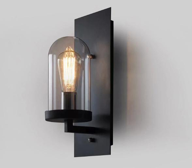 Loft vintage industrial lustre american country clear glass edison wall sconce lamp bathroom mirror home modern