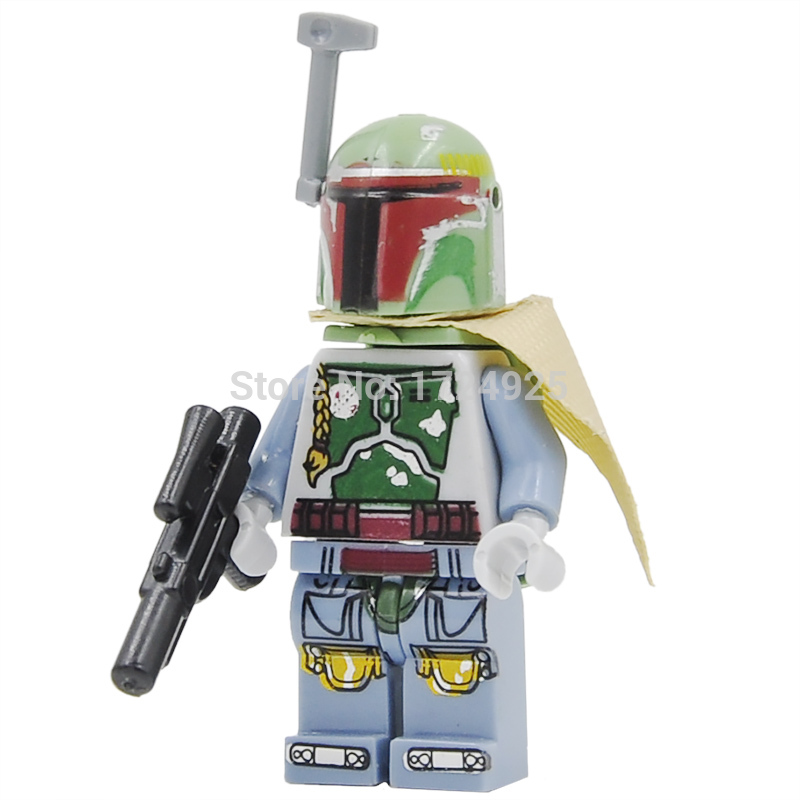 Star Wars VII New Boba Fett Single Sale The Force Awakens Starwars Building Blocks Set Model Toys For Children Figure play arts star wars the force awakens boba fett figure action figures gift toy collectibles model doll 204