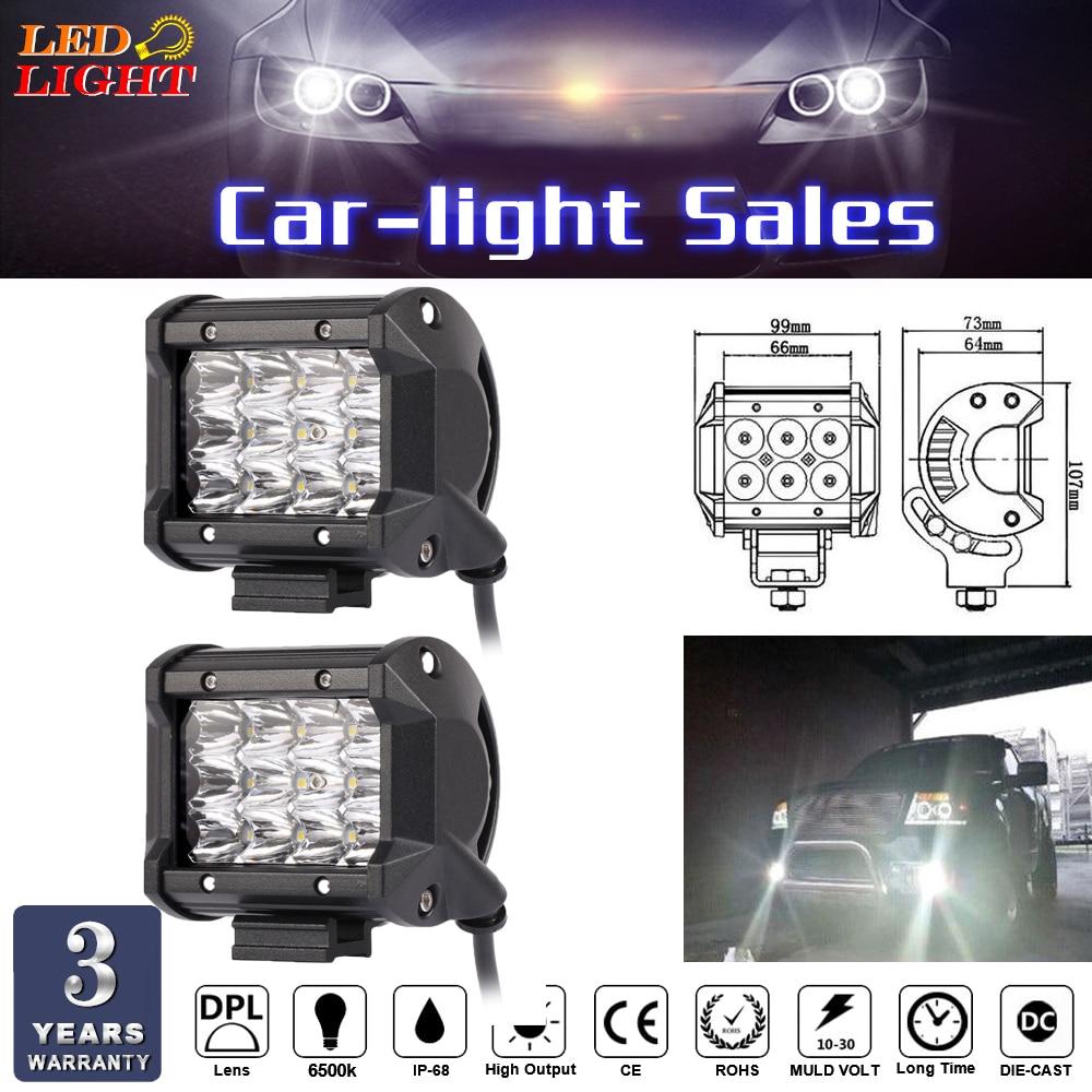 keyecu 2X36W LED Work Light Bar Beam Spot Offroad Driving Fog Lamps SUV ATV 4WD 4 IDEM 10-30V