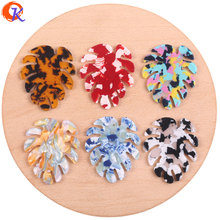 Cordial Design 38*46mm 50Pcs Jewelry Accessories/Earrings Making/Leaf Shape/DIY Parts/Hand Made/Jewelry Findings Components