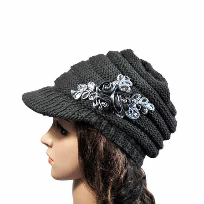 2018 Newly Fashion Korean version of the new autumn and winter ladies hat brim Sequin applique freeshipping #A